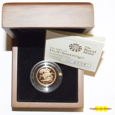 2009 Gold Proof 1/2 SOVEREIGN
